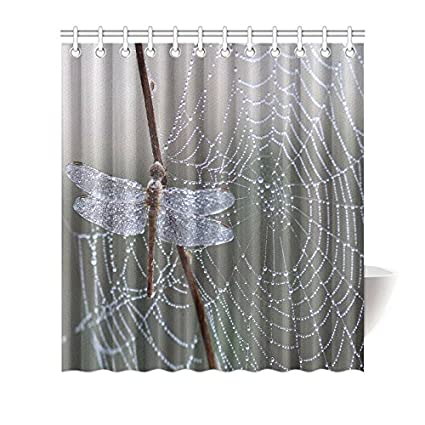 Customized Dragonfly Shower Curtain Home Decor Fabric Bathroom Set Size 66quot72quot