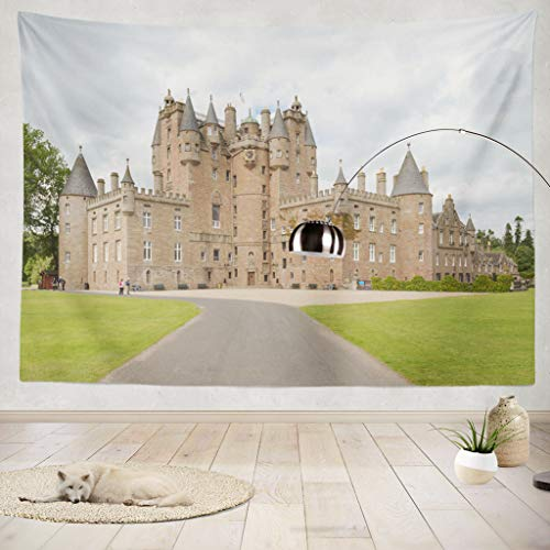 ONELZ Decor Collection,Castle is Situated Close to The Village of Glamis Bedroom Living Room Dorm Wall Hanging Tapestry 60