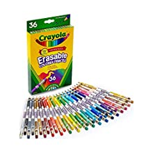 Crayola Erasable Colored Pencils, 36 Non-Toxic, Pre-Sharpened, Fully Erasable Pencils Colored Pencil Set for Adult Coloring Books or Kids 4 & Up, Great for Shading, Gradation, Line Art & More