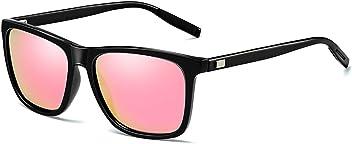 68c0aaf28d DOMICARE Retro Wayfarer Polarized Sunglasses for Men and Women Fashion Sun  Glasses