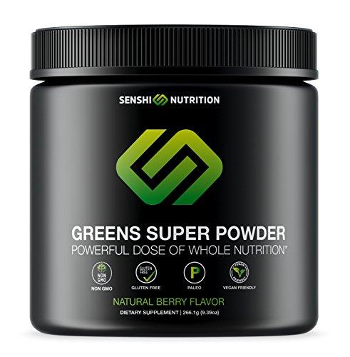 Cheap Senshi Greens Super Powder – A Daily Powerful Dose of Natural Greens, Veggies, Antioxidant Superfood, Prebiotics and Probiotics in a Tasty Shake – Non GMO, Gluten Free, Paleo, Vegan, Keto Friendly