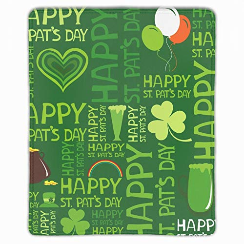 (Luck of The Irish Mousepad - Natural Rubber Mouse Pad Printed with Stitched Edges 11.8 X 9.8 inch)