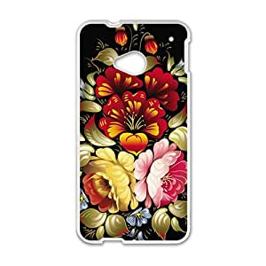 beautiful big flowers bloom personalized high quality cell phone case for HTC M7