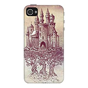 DailyObjects Castle Trees Case For iPhone 4/4S (Back Cover)