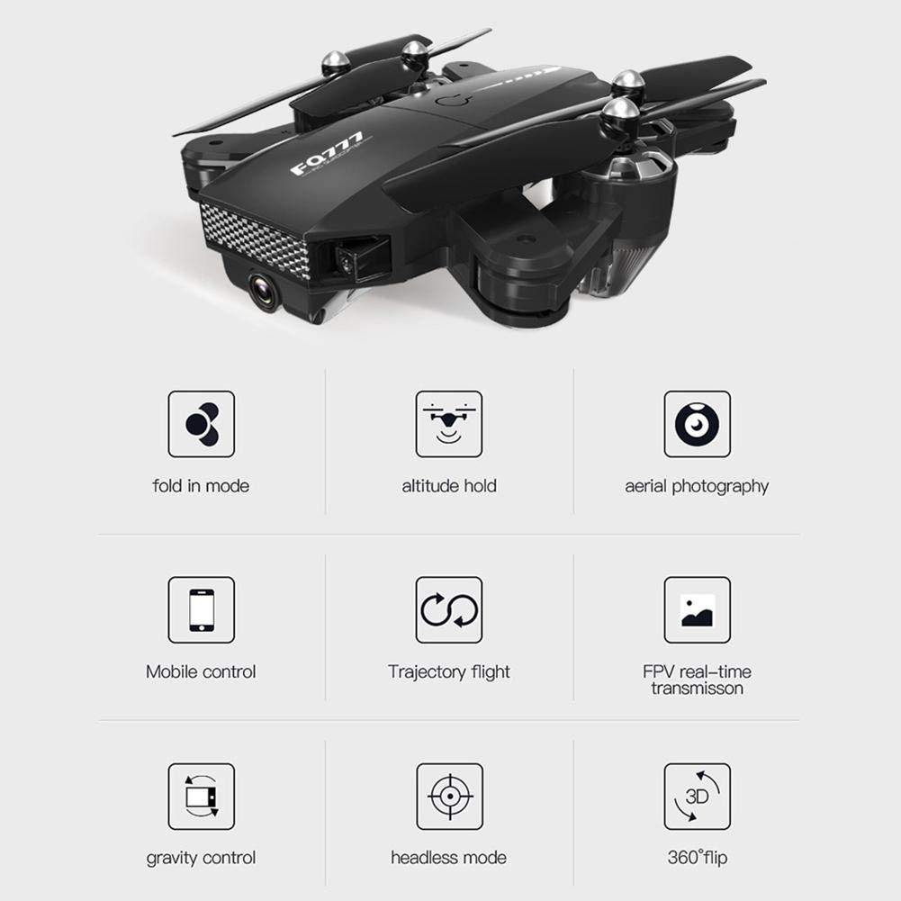 chinatera Foldable Mini Drone, RC Quadcopter with 2 Batteries, Easy to Operate for Beginners, Foldable Arms, 2.4G 6-Axis, Headless Mode, Altitude Hold, One Key Take Off and Landing by chinatera (Image #8)