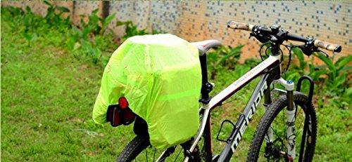 Panniers Triple abnehmbarer Wasserdicht für Fahrrad mit Tasche Waterproof deckt Regen Hohe Sichtbarkeit 56Liter 6978