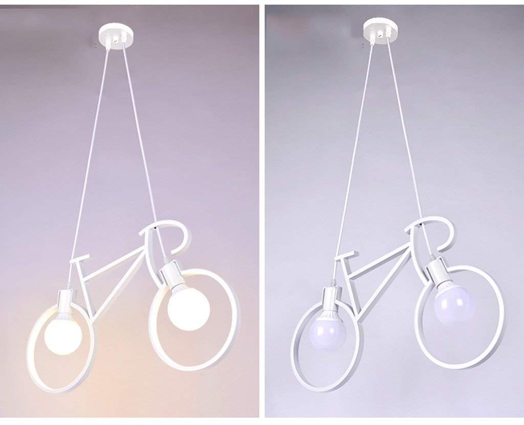 Fahrrad Kronleuchtern, restaurant Kinderzimmer Schlafzimmer Schlafzimmer Schlafzimmer leuchten Korridor gang Balkon Leuchten E27 stark Anti-oxidant (Farbe  weiß) 11921c