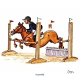 Suspended Greeting Card for people who like horses and riding