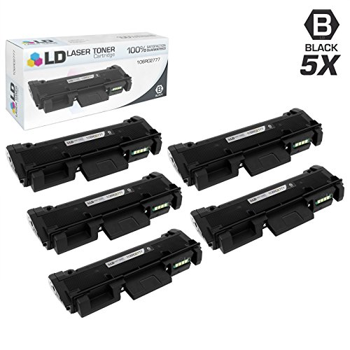 - LD Compatible Toner Cartridge Replacement for Xerox Phaser 3260& WorkCentre 3215 High Yield (Black, 5-Pack)
