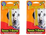 (Pack of 2) Fido Texas T-Bone Dental Dog Bone, Beef Flavored Size Small 4""