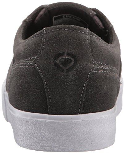 C1rca Heren Elston Low Profile Duurzame Antislip Skate Schoen Houtskool / Wit