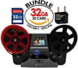 "Wolverine 8 mm & Super 8 Reels Movie Digitizer w/ 2.4"" LCD (Film2Digital MovieMaker) Includes 32GB SD Memory Card & Worldwide 100-240V AC Adapter & International Two-Prong Round Pin Plug Adapter"