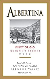 2013 Albertina Gold Medal Winner Quentin\'s Reserve Pinot Grigio 750 mL Wine