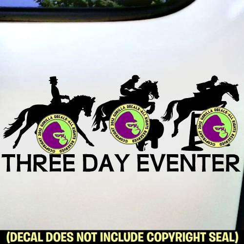 3 DAY EVENTER Eventing Vinyl Decal Sticker C