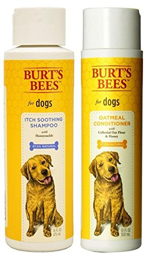 Itch Skin Soothing Shampoo - Burt's Bees For Dogs Itch Soothing Shampoo and Oatmeal Conditioner Bundle - (1) Each