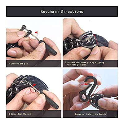 TANGSEN Key Fob Case for Hyundai Azera Elantra GT EQUUS Genesis Coupe Santa FE Sonata Tucson Veloster KIA Borrego Forte Sorento Soul SPORTAGE 4 Button Keyless Entry Remote Carbon Fiber Black Cover: Automotive