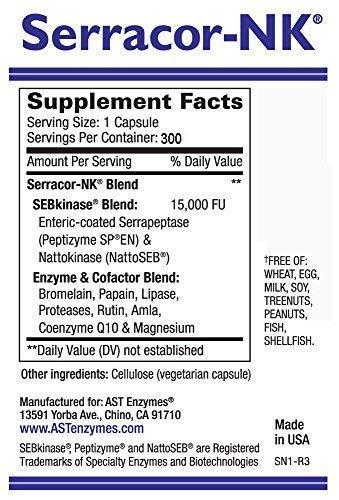 Serracor-NK & Serra-RX 260,000 SU - Scar Tissue Bundle (300 Capsules & 120  Capsules) - Enteric Coated Serrapeptase Proteolytic Systemic Enzyme,