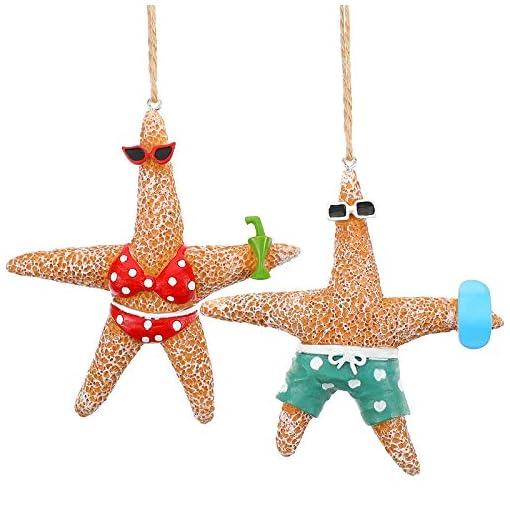 Beach Themed Christmas Ornaments 2 Pieces Beach Theme Christmas Ornaments Christmas Tree Starfish Decorations Resin Starfish Decorations Starfish Couple… beach themed christmas ornaments