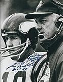Autographed Fran Tarkenton & Bud Grant 8x10 Minnesota Vikings Photo