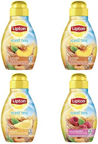 Lipton Liquid Iced Tea Mix, Tea Variety Pack, 9.72 oz, 4 count