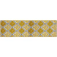 Structures Kiana Textured Printed Accent Rug, Gold/Grey 20 x 60