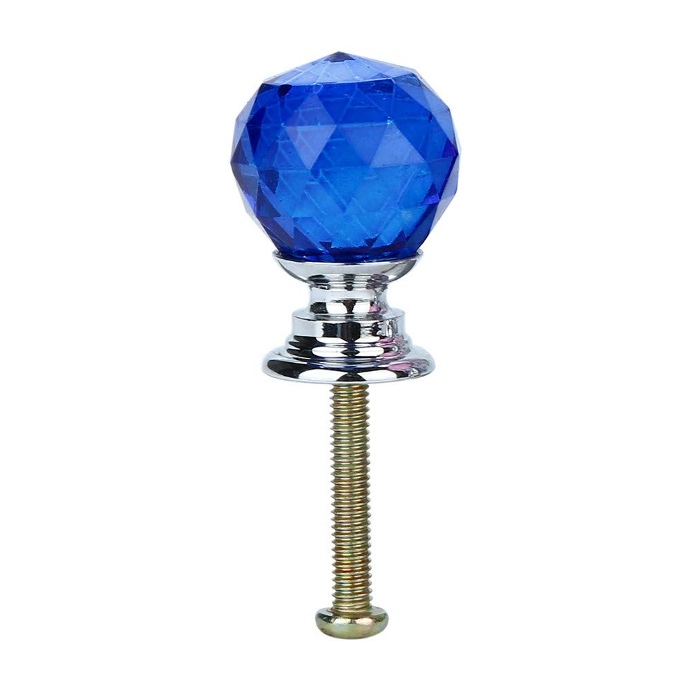 LiPing Diamond Shape Crystal Glass 20mm Drawer Knob Pull Handle Usd for Caebinet, Drawer (A)