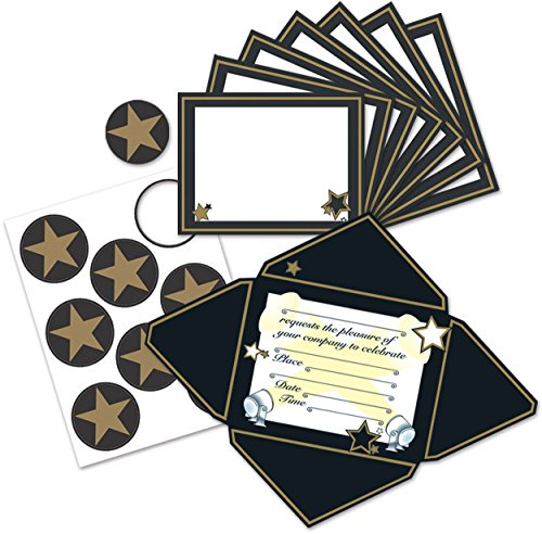 Beistle Hollywood Invitations and Seals (8 count) -