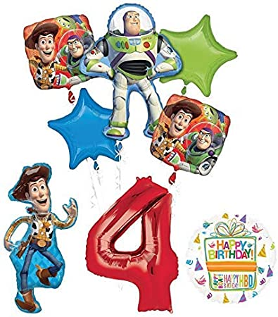 TOY STORY BUZZ LIGHT YEAR BIRTHDAY PARTY FOIL BALLOON BOUQUET 5 PACK DECORATION
