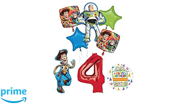 Toy Story 4th Birthday Party Supplies and Balloon Bouquet Decorations