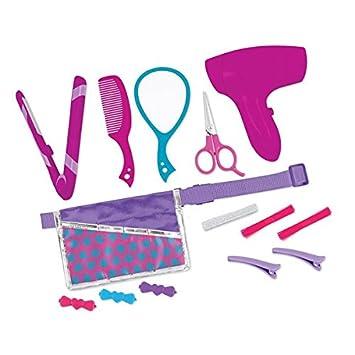 JAC - Conjunto de secador y plancha de pelo con accesorios, set de 14 piezas para muñecas: Amazon.es: Juguetes y juegos