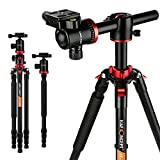 "K&F Concept Professional Camera Tripod 72"" Portable Aluminum Tripod Monopod with 360 Degree"