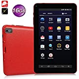 9 inch Android Tablet PC,High RAM Storage Phablet Tablet Quad Core Unlocked Cell Phone Tablets, Sim Card Slots, WiFi, GPS, Blue-Tooth 4.0, HD Screen Display, Google Play(Red)