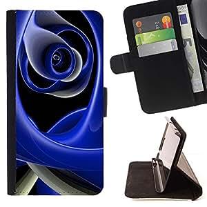 Momo Phone Case / Flip Funda de Cuero Case Cover - Resumen Azul - Sony Xperia Z5 Compact Z5 Mini (Not for Normal Z5)