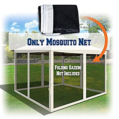 BenefitUSA Canopies 10' L X 6.4' W Mesh Wall Sidewalls for Pop Up Canopy Screen Room, Pack of 4 (Walls Only) (Ecru): Sports & Outdoors