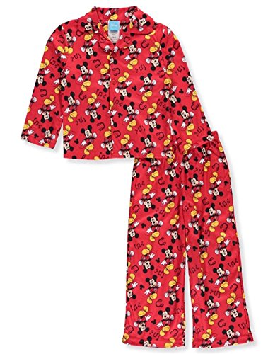 Mickey Mouse Disney Baby Boys 2 Piece Button Down Flannel Pajama Set Size 12-24 Months (18 - Flannel Pajamas 2 Piece Button