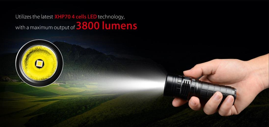 Promisen IMALENT DN70 XHP70 3800LM 26650 LED Flashlight Tactical Rechargeable Lighting by Promisen (Image #4)