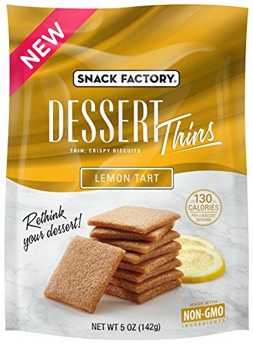 Snack Factory Dessert Thins Crispy Biscuits, Lemon Tart, 5 Ounce (Pack of 12) -