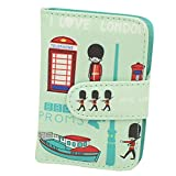 Cute Credit Card Holder Bag Id Card Case with 20 Card Slots, I Love London - Cute Credit Card Holder Bag Id Card Case with 20 Card Slots, I Love London
