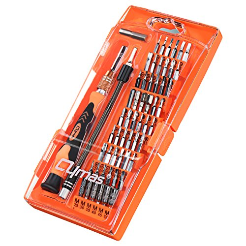 Cymas Magnetic Precision Screwdriver Set, 58 in 1 with 54 Bits Driver Kit, Electronics Repair and Disassemble Tool Kit for Laptop, iphone and other Smart Phone, Tablet, Game Console, Clock, etc.