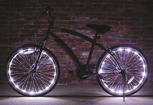 Brightz, Ltd. White Wheel Brightz LED Bicycle Accessory Light (2-Pack Bundle for...