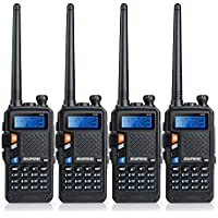 4 Pcs BAOFENG UV-5X Two-Way Radio with FM Function VHF 136-174MHz UHF 400-520MHz Dual Band Dual Watch Transceiver 128 Channels