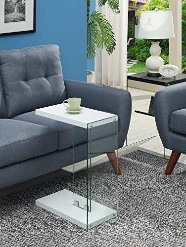Convenience Concepts SoHo C End Table, White
