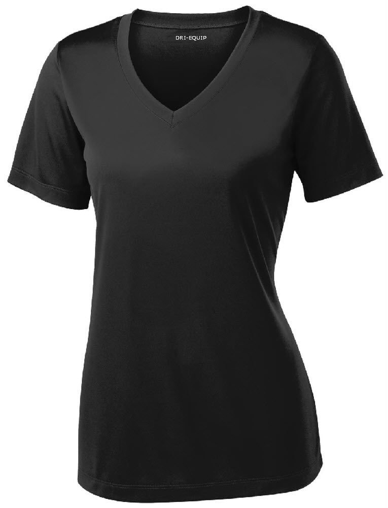Women's Short Sleeve Moisture Wicking Athletic Shirt-Black-XS by Joe's USA (Image #1)