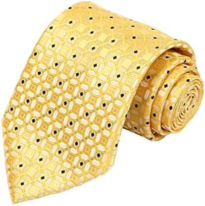 KissTies Mens Tie Fortune Lucky Coin Pattern Necktie + Gift Box