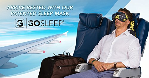2 in 1 Sleep Mask with Memory Foam Pillow by GOSLEEP - Pan Am Hawaii Print (Upright Sleep compare prices)