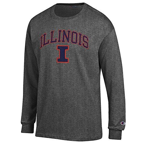 Illini Fan - Elite Fan Shop Illinois Fighting Illini Long Sleeve Tshirt Varsity Charcoal - M