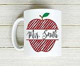 Custom Teacher Mug - Apple Coffee Mug - Teacher Appreciation - Coffee Mug