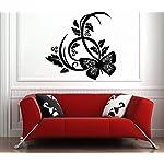vinilo con mariposas diseño abstracto
