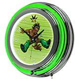 WWE Kids Kofi Kingston Chrome Double Ring Neon Clock, 14''