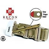Tourniquet - (TAN) Recon Medical Gen 3 Mil-Spec Kevlar Metal Windlass Aluminum First Aid Tactical Swat Medic Pre-Hospital Life Saving Hemorrhage Control Registration Card 1 Pack